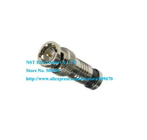 Free Shipping /50pcs/ Compression CCTV BNC Male RG59 Connector Adapter(China (Mainland))
