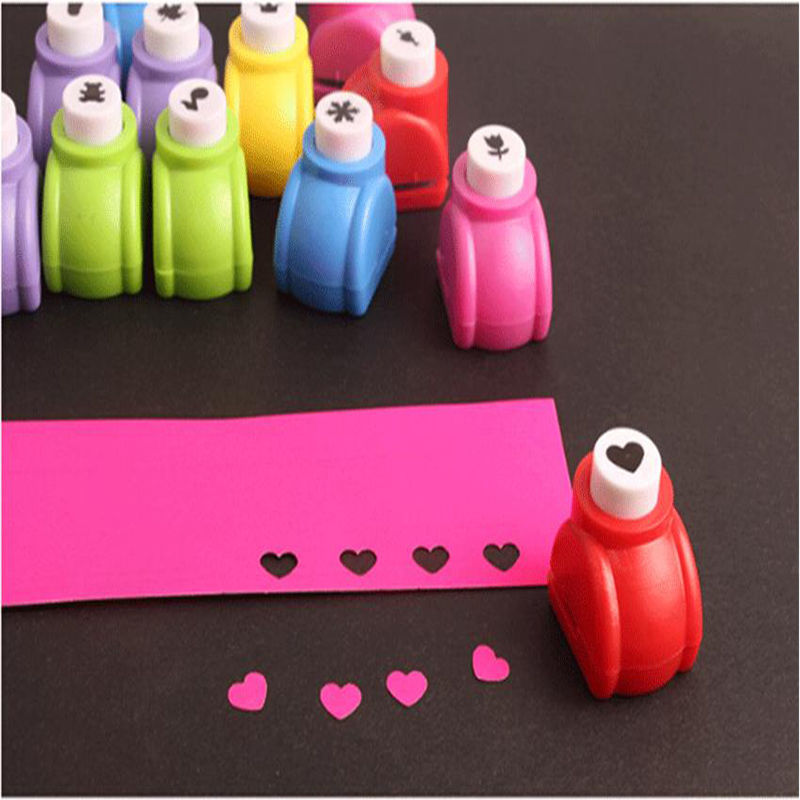 1 pc New Mini Printing Paper crafts DIY Punch Cutter Tool accessories For Kids scrapbooking cute tools 6 Style(China (Mainland))