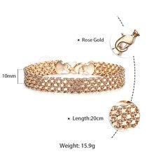 Nowy 10/12mm duży 585 różowe złoto podwójne tkania Rolo kabel Curb Link bransoletki i łańcuszki na rękę bransoletki dla mężczyzn kobiet 20cm biżuteria prezent DCBB01(China)
