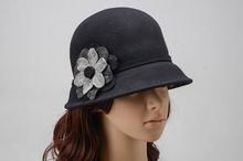 vogue women cloche hats floral wedding church hats Woolen Beanie Cap Crochet Dress Hat Kentucky Derby caps Party bonnet chapeau