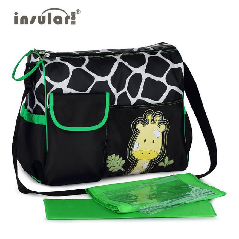 insular Baby Diaper Bag 2016 Hot Sales Fashion Multi-function Cartoon Nappy Bag Cute Zebra And Giraffe Pattern Mommy Bags(China (Mainland))