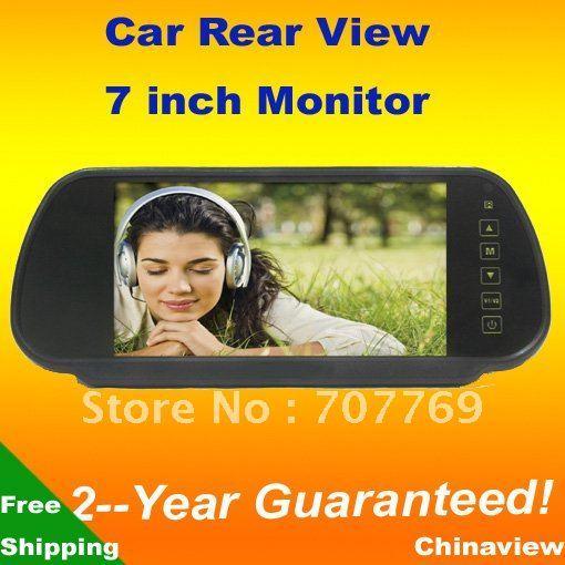 """Car Monitor 7"""" Color TFT LCD Rear view Car Monitor support car camera free Shipping"""