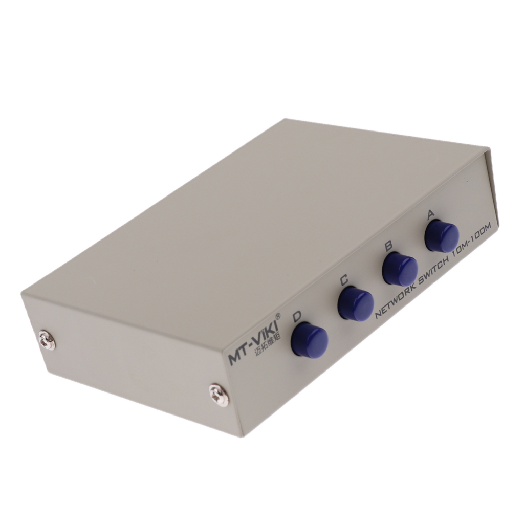 4 порта A B ручной сетевой коммутатор 4в1 1In4 RJ45 Ethernet 100 м портовый интерфейс 4Port A B Manual Network Sharing Switch Box 4In1 1In4 RJ45 Ethernet Switcher