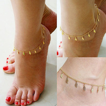 Beach Summer Style Gold Leaves Pendant Chains Anklets Ankle Foot Jewelry Barefoot  Foot Accessories Free shipping