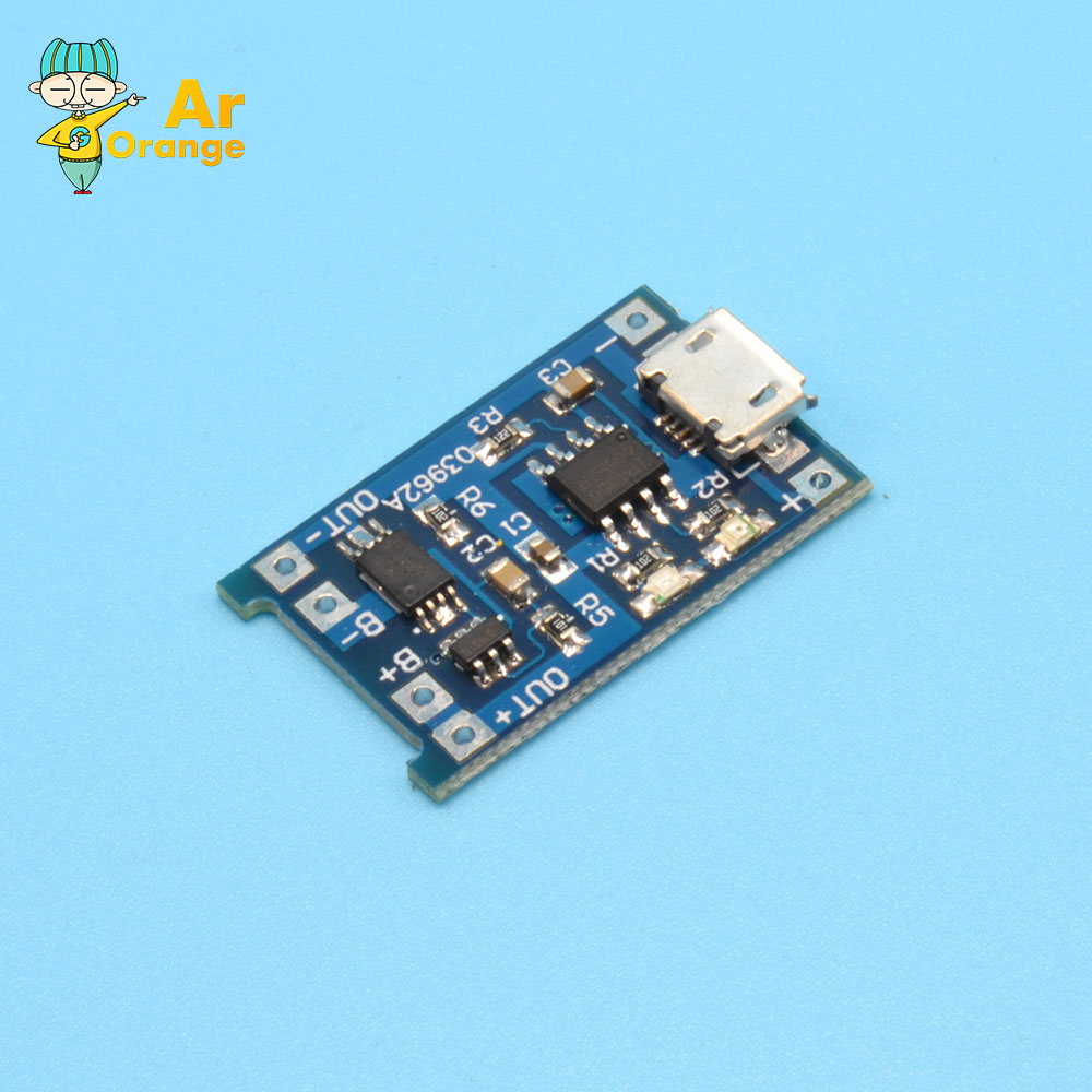 Гаджет  5PCS Micro USB 5V 1A 18650 Lithium Battery Charger Board With Protection Module None Электронные компоненты и материалы