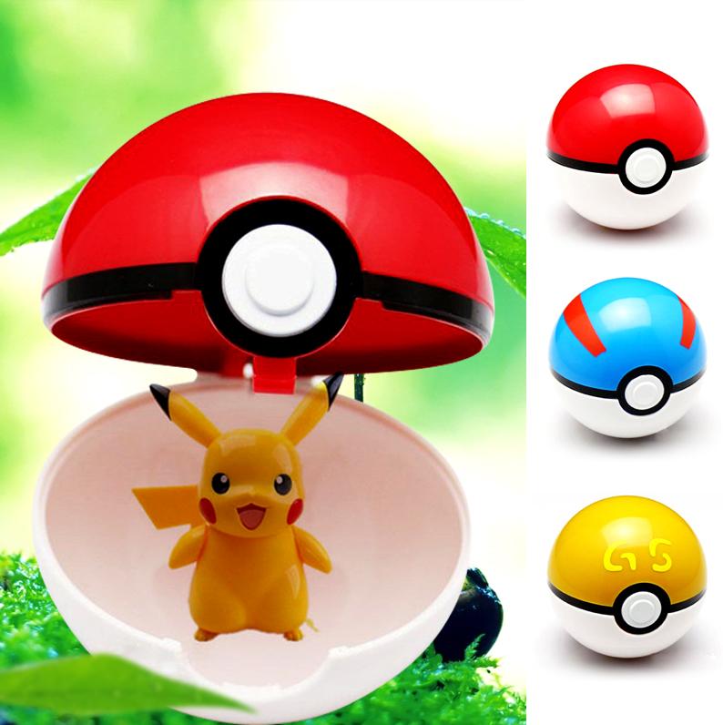 Trainer Pokemon Love Park Ball Masterball Pokeballs GS Ultra Dive Poke Ball Toy 7CM, with Pikachu(China (Mainland))