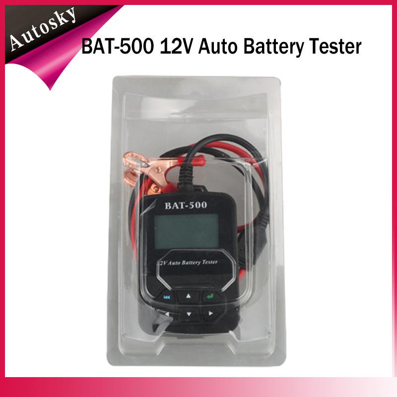 DHL Free Original BAT-500 BAT500 12V Auto Battery Tester BAT-500 Automotive Electrical Battery Analyser For Car/Train/ Bicycles(China (Mainland))
