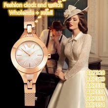 Pulsera de moda relojes AR7328 AR7329 AR7330 AR7331 AR7353 AR7354 + la caja Original + venta al por mayor y al por menor + envío gratuito