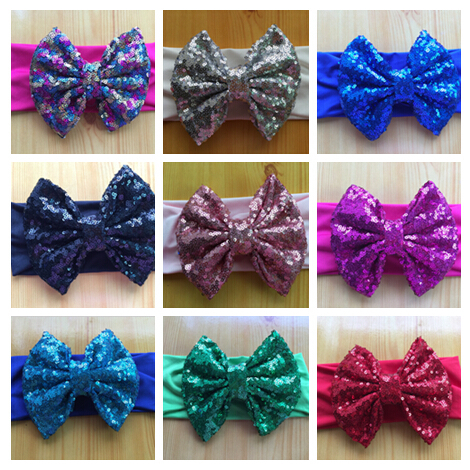 20pcs/lot Free Ship 5.5'' Messy Bow Baby Head wraps, 3'' Width Jersey Knit Headwraps,Solid Cotton Headband, Hair Accessory(China (Mainland))