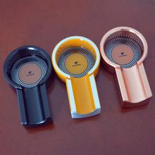 COHIBA Mini Titanium Alloy Travel use Three Color Cigar Ashtray Holder 1 Rest(China (Mainland))