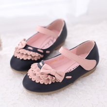 2013 spring child female child spring single shoes bow gentlewomen princess shoes leather(China (Mainland))