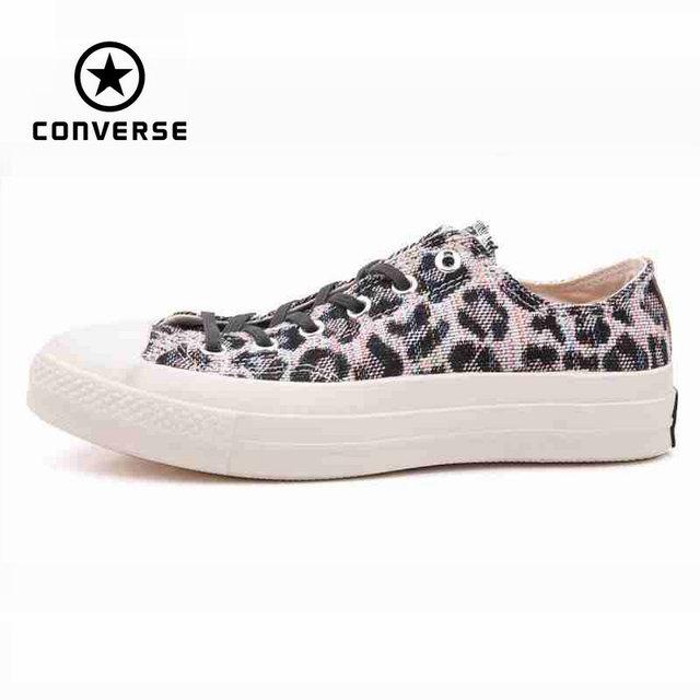 Первоначально конверс all star мужская леопардовым принтом кроссовки холст обувь для мужчин низкой классической скейтбордингом обувь бесплатная доставка