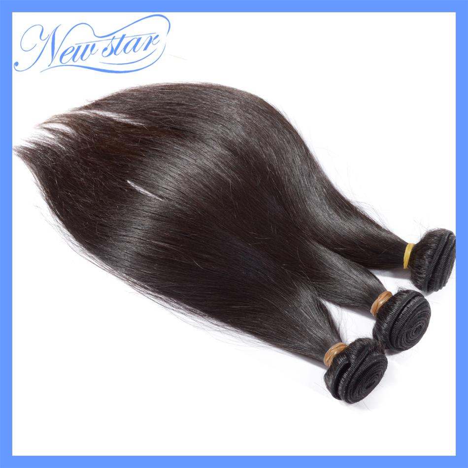3bundles of 7a grade new star peruvian virgin hair straight style human hair with cuticle natural dark brown color free shipping(China (Mainland))