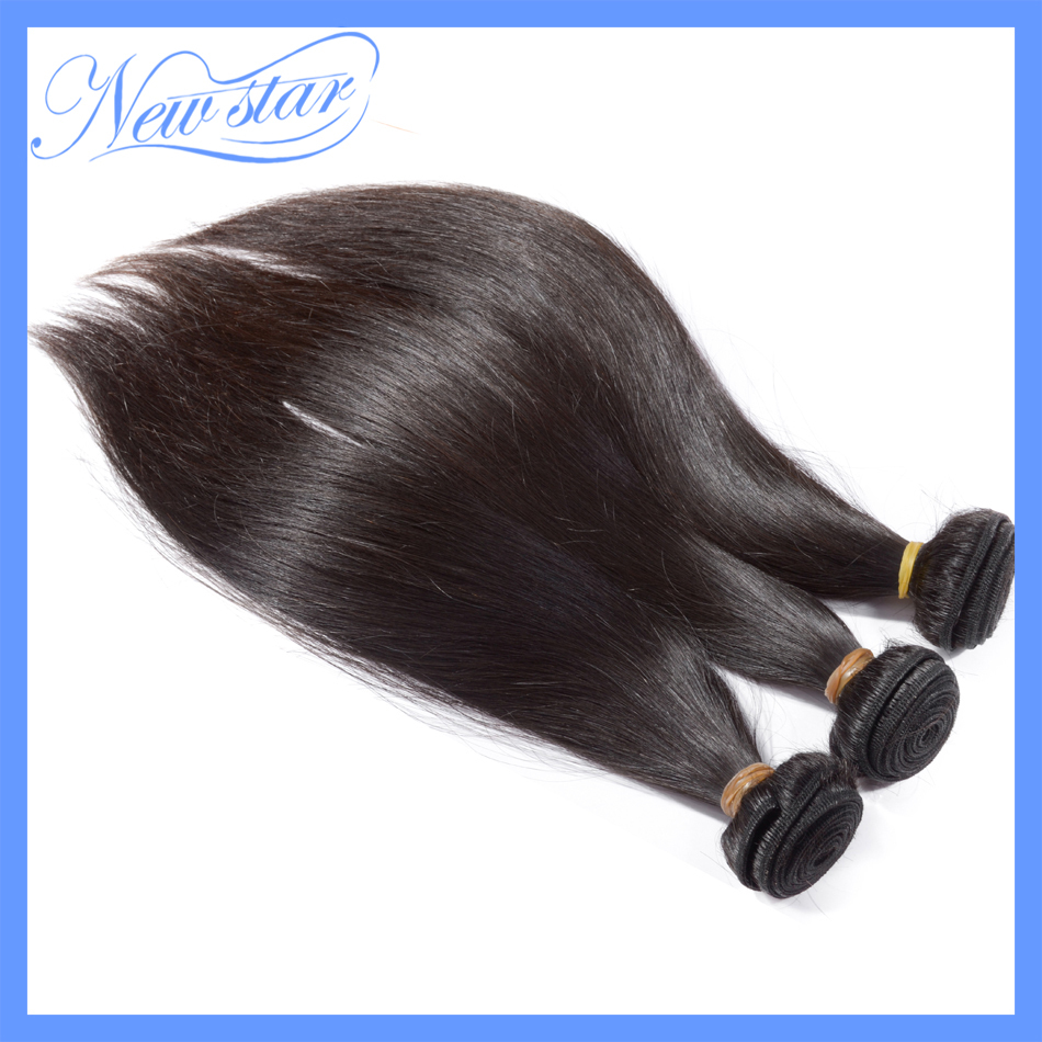 3bundles of 7a grade new star peruvian virgin hair straight style human hair with cuticle natural dark brown color free shipping(China (Mainland))