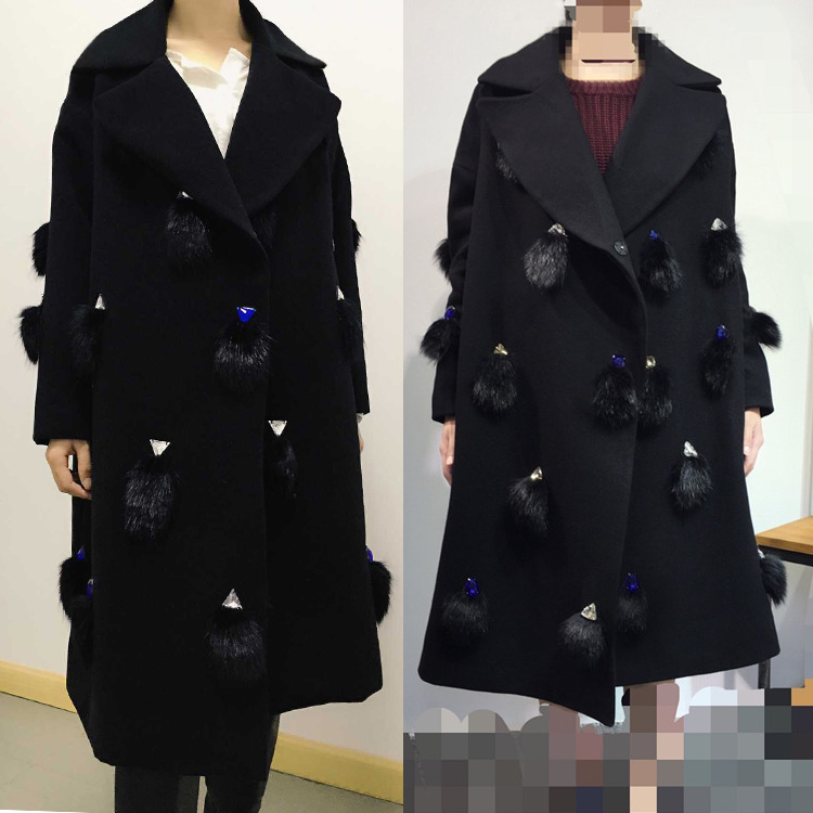 Goddess newly installed new winter woolen coat Korean version of the same paragraph Guo Biting long sections woolen coat clothesОдежда и ак�е��уары<br><br><br>Aliexpress