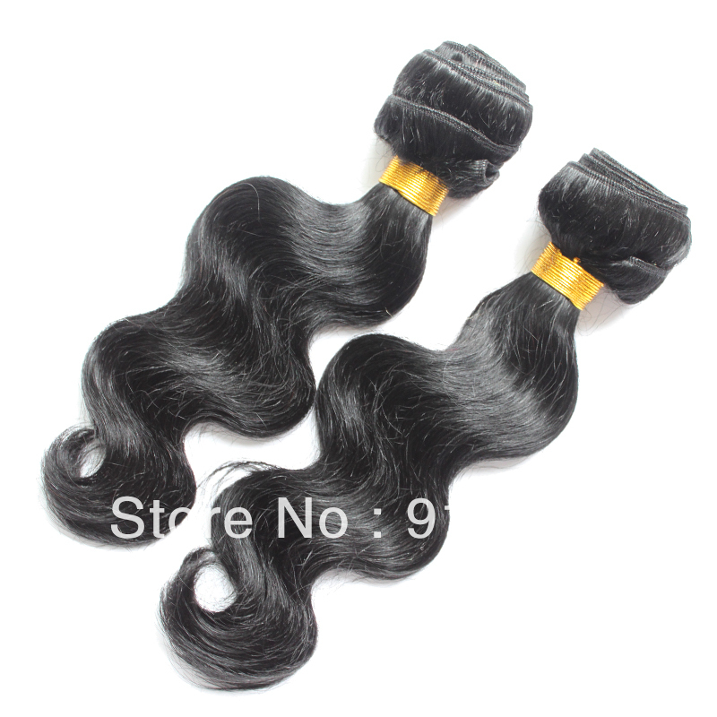 10.15 Sale DHL 14 inch-28 inch Body wave Brazilian Virgin hair unprocessed Natural color - Cathy's beauty store