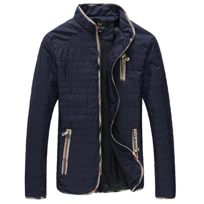 2016 New Arrival Spring Men's Jackets Solid Fashion Coats Male Casual Slim Stand Collar Jacket Men Outerdoor Overcoat M-XXXXXXL(China (Mainland))