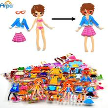 3D Girls Change Clothes Dress-Up Stickers, 16 Patterns,  20cm*15.7cm(China (Mainland))