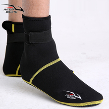3mm Neoprene Snorkeling Shoes Scuba Diving Socks Beach Boots Wetsuit Prevent Scratches Warming Non-slip Winter Swimming Seaside(China (Mainland))