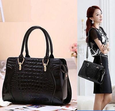 New Ladies Shoulder Tote Handbag Faux Leather Hobo Purse Cross Body Bag Womens(China (Mainland))