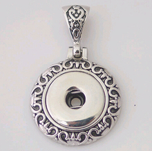 colar pingente metal Pendant necklace charm fit chain necklace 18/20mm snap buttons charm ginger snaps buttons B0137