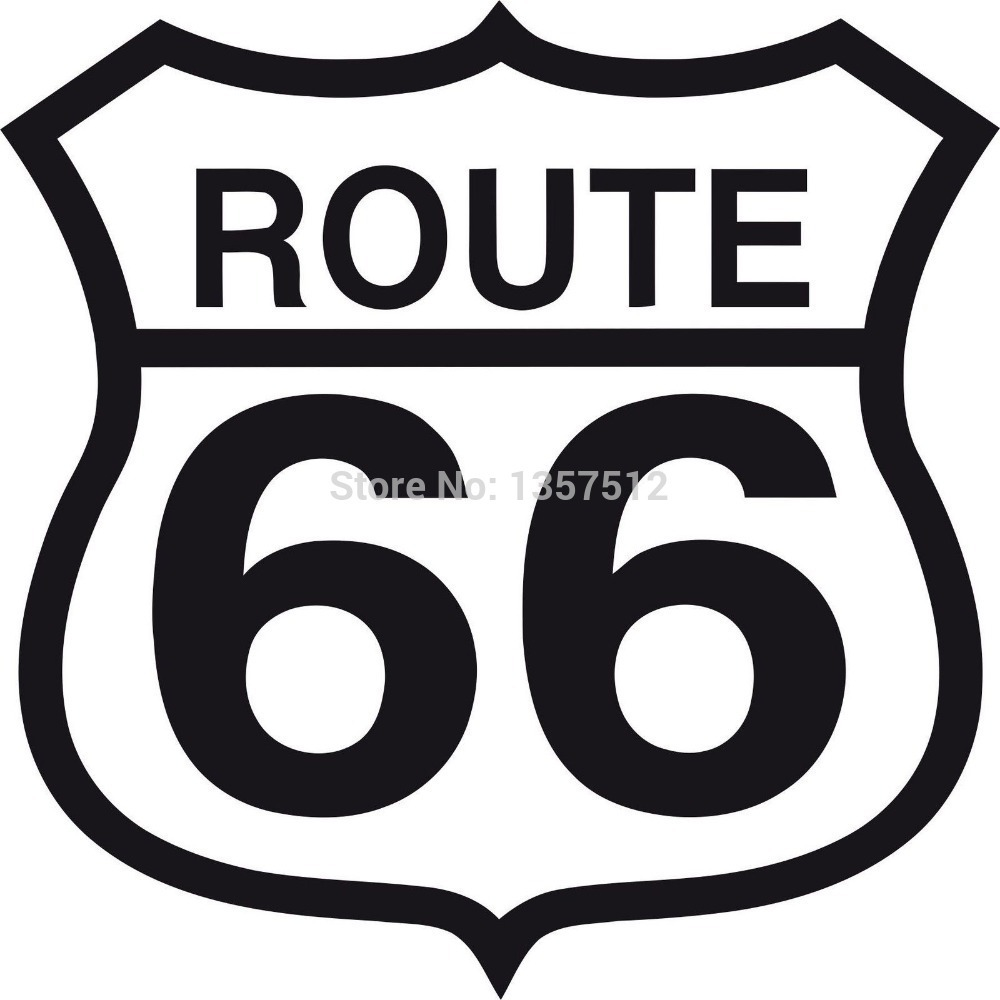 Free Shipping Route 66 Sign Funny Car Sticker For Truck Window Bumper font b Auto b