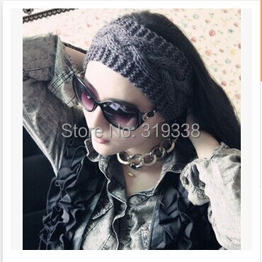 Hot Sale Hair Accessories Women Knit Crochet Headband Winter Braid Head wrap 1pc WH060(China (Mainland))