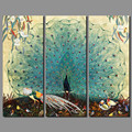 Luxurious Garden Animal birds Peacock Picture decoration peahen canvas painting wall Art living room printed home