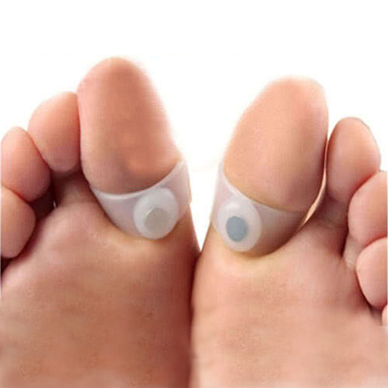 2Pairs Slimming Silicone Foot Massage Magnetic Toe Ring Fat Weight Loss Health(China (Mainland))