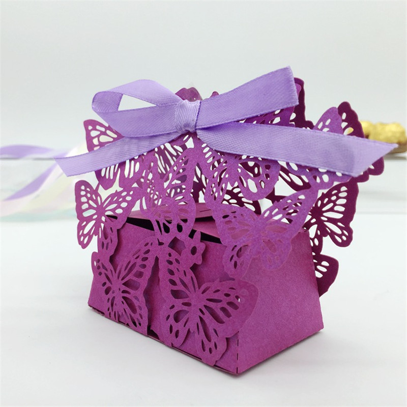 Laser Cut Butterfly Wedding Candy Box Wedding Favors Gifts Boxes Souvenirs Wedding Hawaiian