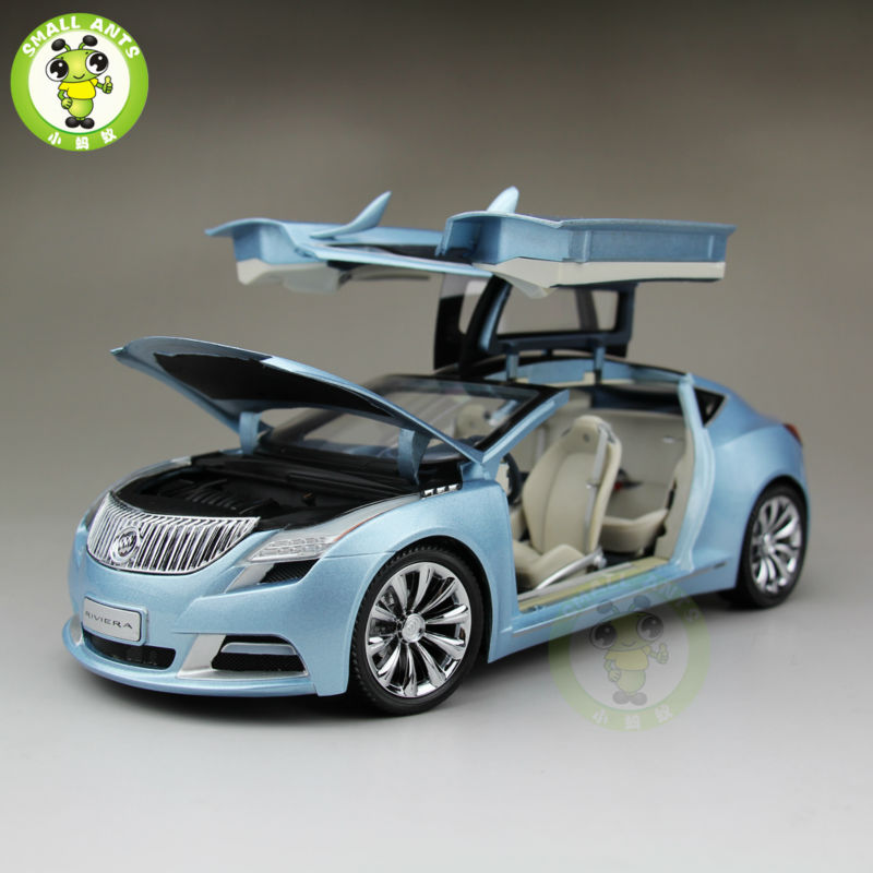 1:18 US GMC Buick Riviera 2009 Diecast Car Model Blue(China (Mainland))