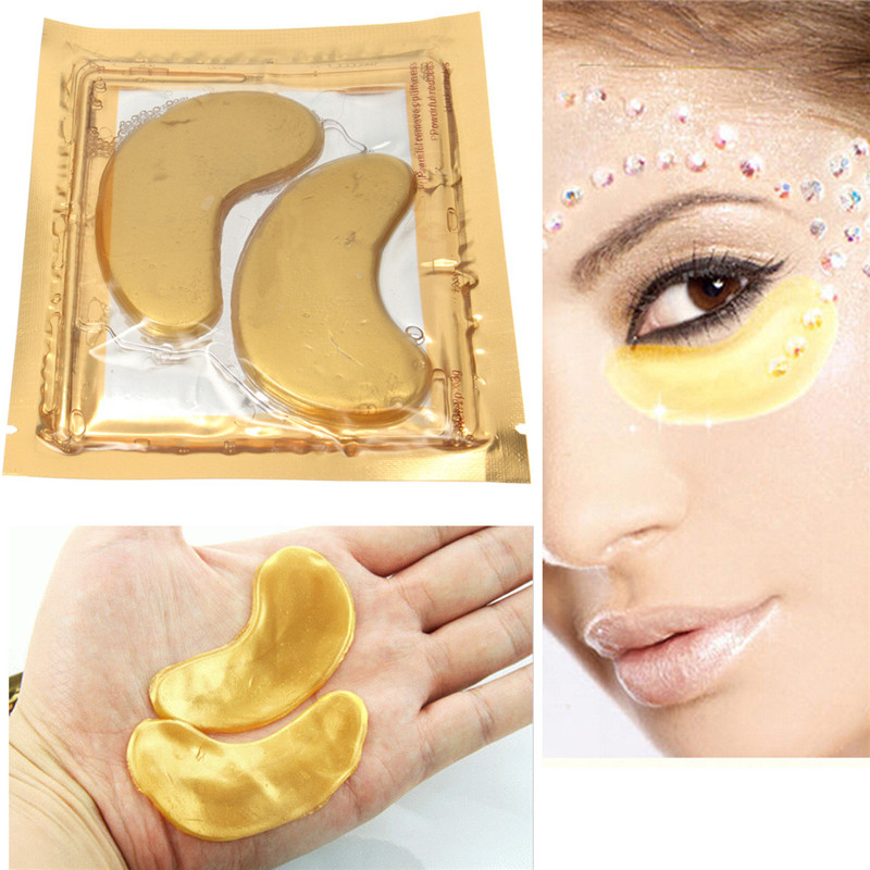 Best Promotion Useful Product 10 Pair Gold Collagen Eye Mask Eyelid Care Patch Pad Moisture Anti Wrinkle Facial Make Up(China (Mainland))