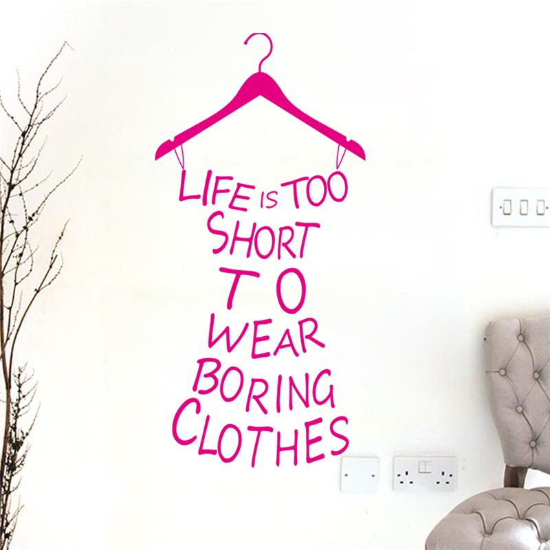 u0026amp clothes tree wall stickers wardrobe decorations diy home decals vinyl art room