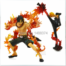Buy 2pcs/lot Anime One Piece ZERO Portgas D Ace PVC Action Figure Model Collection Toy 14CM Free for $38.88 in AliExpress store