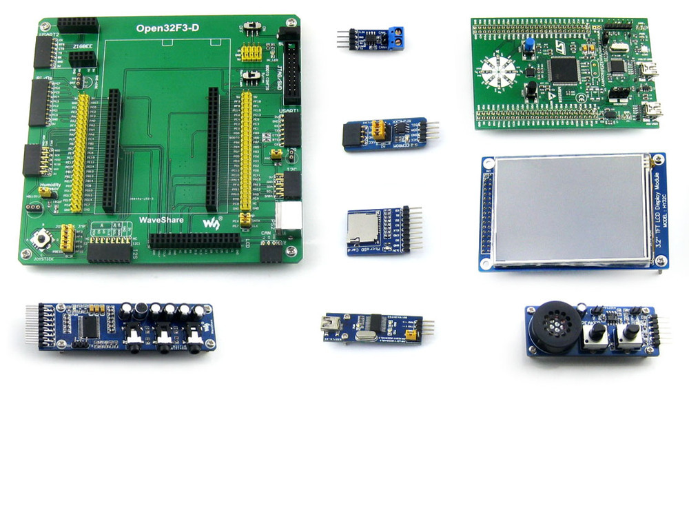 Фотография STM32 Board STM32F3DISCOVERY STM32F303VCT6 STM32 ARM Cortex-M4 Development Board Open32F3-D+ Modules Kit = Open32F3-D Package A