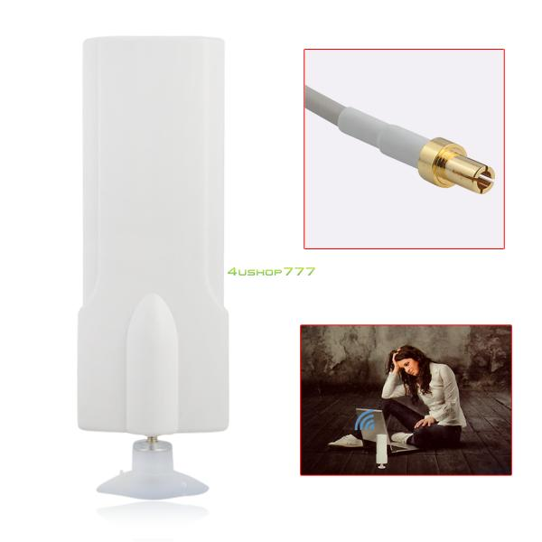 White 4G External Antenna 25dBi TS9 Connector Signal Amplier Booster 2M Cable EL4534(China (Mainland))