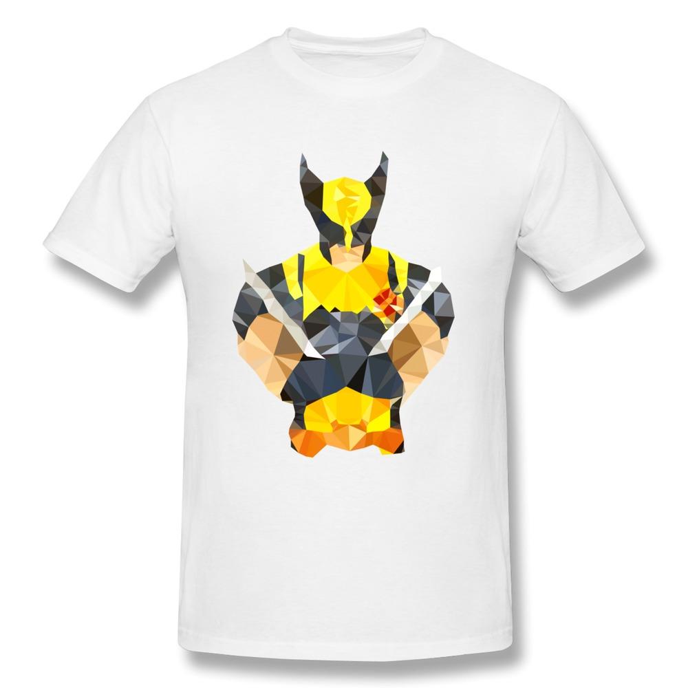 Custom regular men tee shirt polygon heroes wolverine for Logo t shirt dress