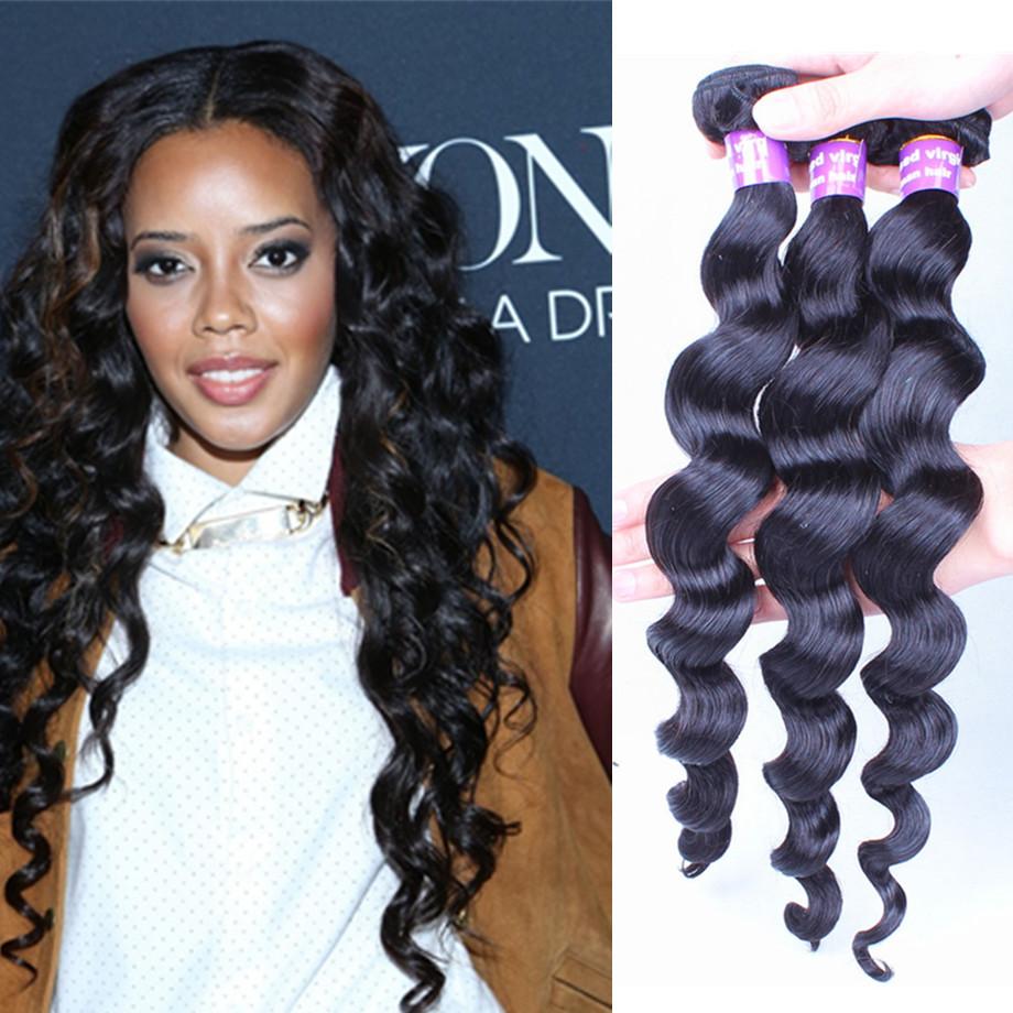 Filipino virgin hair loose wave human virgin hair extensions 3PCS Filipino virgin hair weaves loose wave natural hair style hot