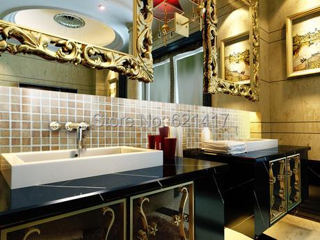 Natural marble mosaic,wood yellow style, Kitchen Back Splash, Wall Tiles, Floor Mosaic, Free Shipping(China (Mainland))