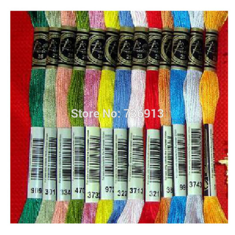 You Can Choose Any Colors Embroidery Floss Thread 1 Lot