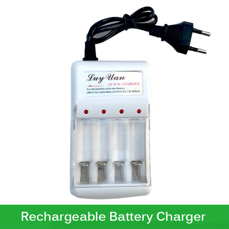 Original AAA AA NiCd NiMh Rechargeable Battery Charger 220V EU Plug 4 Ports Batteries Charger(China (Mainland))