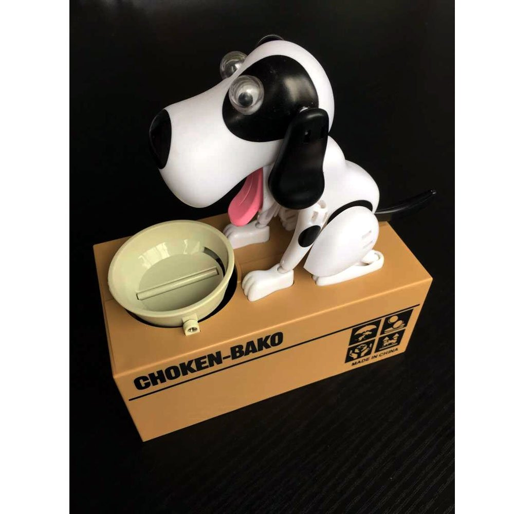 Fashion and Comfort 2015 New Puppy Doggy Bank Hungry Hound Money Banks Kids Bank Coin-Eating Money Saving Box (Black)(China (Mainland))