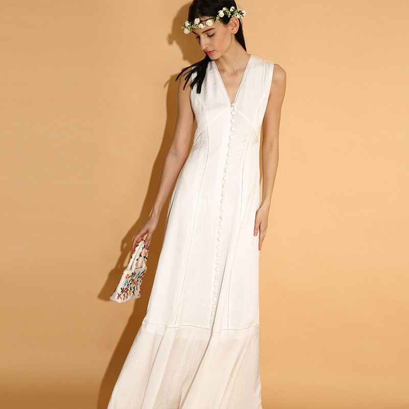 LY015-New-Arrival-Summer-2016-sleeveless-buttons-long-maxi-elegant-bohemian-beach-style-white-vintage-dress (3)
