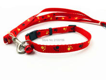 Cute and fashinable Adjustable Nylon Small Bells necklace cat collar leash  for cat/dog(China (Mainland))