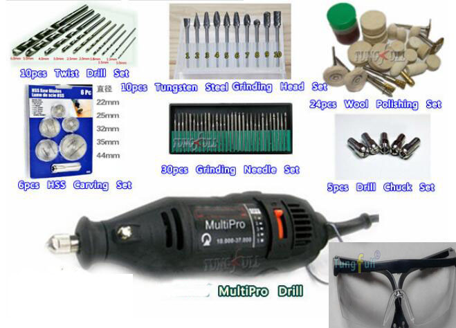 DREMEL MultiPro Drill + Carving Grinding &amp; Polishing Accessories,Tungsten Steel Grinding Wool Polishing Top-level Kits HSS Blade<br><br>Aliexpress