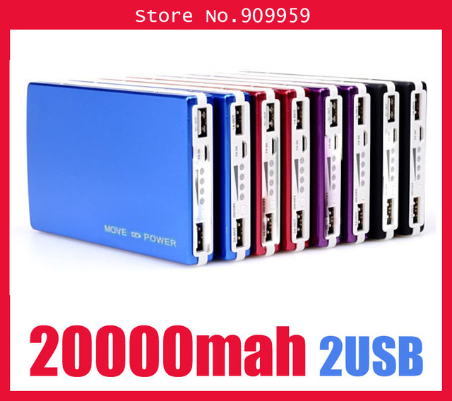 High Quality Mobile power power bank External Battery Charger 20000mAh for iPad iPhone