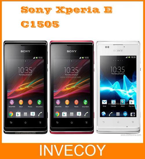 Xperia E brand Original Sony Xperia E c1505 3.5inch 4GB storage 3.15 MP Wifi GPS 3G Smart Phone with freeshipping(China (Mainland))