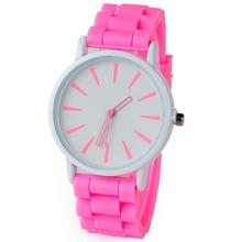 Women Fashion Brand Elegant Colorful Silicone Watch Ladies Girls Dress Quartz Watch Children Clock Saat Relojes