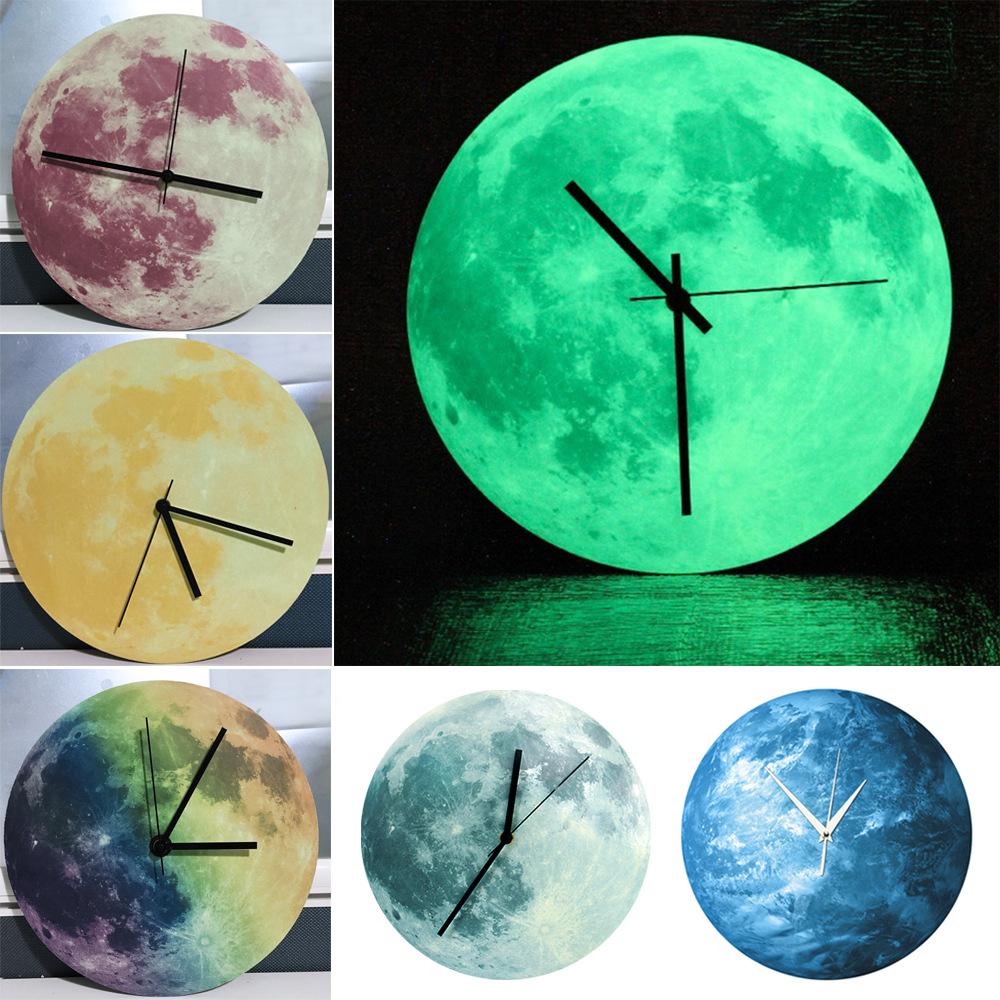 Vert horloge murale promotion achetez des vert horloge for Horloge lumineuse