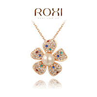 ROXI Pendant Collares Necklace Necklaces & Pendants 18K Gold Ladies Body Chain Pearl Sterling Silver Jewelry